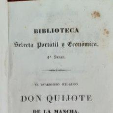 Libros antiguos: DON QUIJOTE DE LA MANCHA. CERVANTES. IMP BERGNES. VOL 2 Y 4. 1832. Lote 213850558