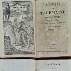 Libros antiguos: AVENTURAS DE TELEMACO. ARZOBISPO DE CAMBRAY. IMP. JUAN IGNACIO JORDI. 2 VOL. 1817. Lote 213855370