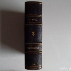 Libros antiguos: LIBRERIA GHOTICA. EDICIÓN LUJOSA EN PIEL DE E. ZOLA. FECUNDIDAD. 1920. 2 TOMOS EN 1 VOLUMEN.. Lote 214006962