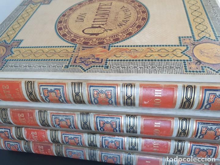 Libros antiguos: 1880.INGENIOSO HIDALGO DON QUIJOTE DE LA MANCHA.MONTANER SIMON. EXCLUSIVA 4 TOMOS BALACA. CERVANTES - Foto 39 - 164889466