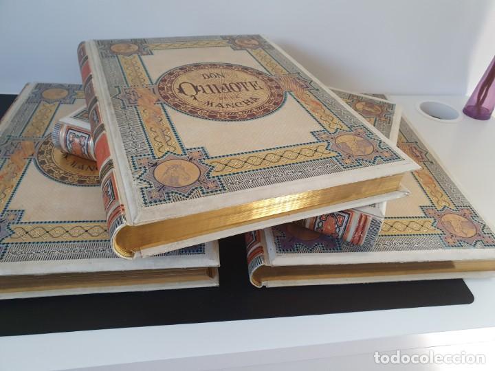 1880.INGENIOSO HIDALGO DON QUIJOTE DE LA MANCHA.MONTANER SIMON. EXCLUSIVA 4 TOMOS BALACA. CERVANTES (Libros antiguos (hasta 1936), raros y curiosos - Literatura - Narrativa - Clásicos)