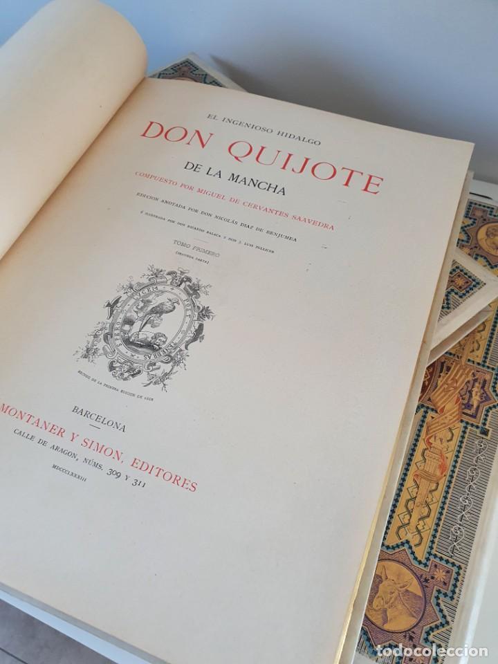 Libros antiguos: 1880.INGENIOSO HIDALGO DON QUIJOTE DE LA MANCHA.MONTANER SIMON. EXCLUSIVA 4 TOMOS BALACA. CERVANTES - Foto 47 - 164889466