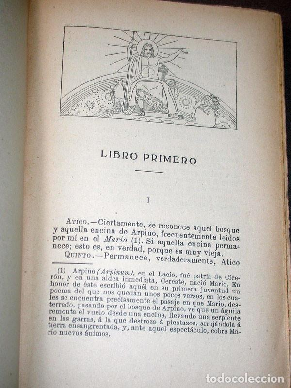 Libros antiguos: LAS LEYES, LA VEJEZ, LA AMISTAD. CICERÓN. Prometeo. Valencia, sin año. CLÁSICOS LATINOS - Foto 3 - 214833945