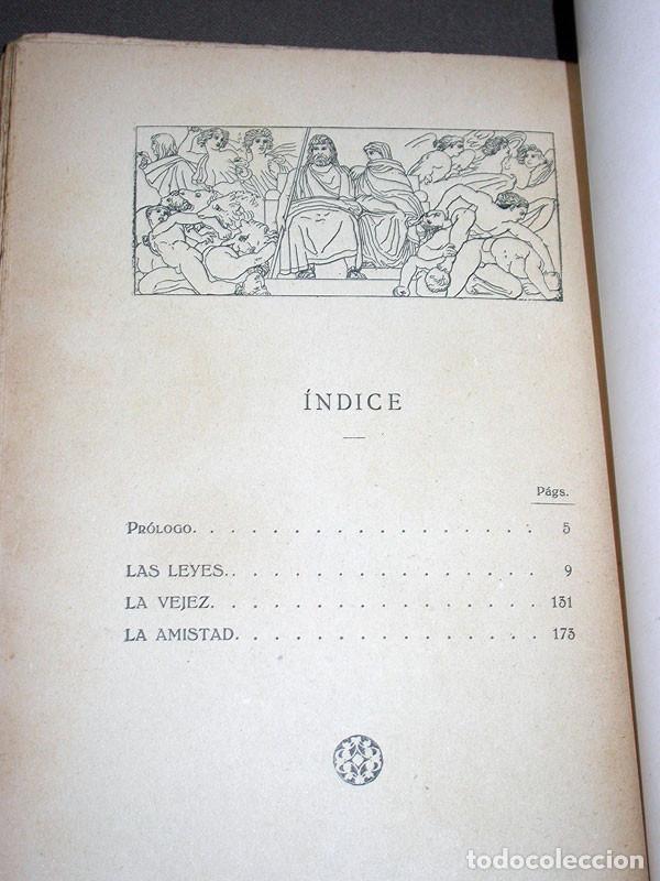 Libros antiguos: LAS LEYES, LA VEJEZ, LA AMISTAD. CICERÓN. Prometeo. Valencia, sin año. CLÁSICOS LATINOS - Foto 4 - 214833945