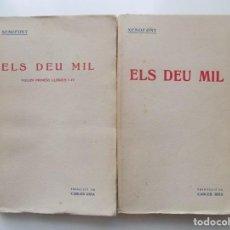 Libros antiguos: LIBRERIA GHOTICA. XENOFONT. ELS DEU MIL. 1915. OBRA COMPLETA EN 2 TOMOS. TRADUCCIÓ DE CARLES RIBA.. Lote 215167547