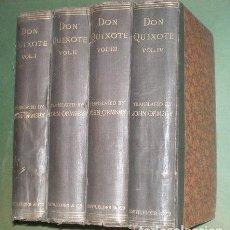 Libros antiguos: CERVANTES: THE INGENIOUS GENTLEMAN DON QUIXOTE OF LA MANCHA. 4 VOLS. 1885. Lote 38898754