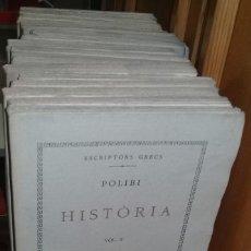 Libros antiguos: LOTE DE 19 LIBROS DE LA COLECCIÓN BERNAT METGE. ESCRIPTORS GRECS. TRAD. AL CATALÀ. AÑOS 20-30. Lote 232612810