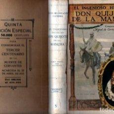Libros antiguos: DON QUIJOTE DE LA MANCHA (SOPENA, 1916) EDICIÓN TERCER CENTENARIO DE LA MUERTE DE CERVANTES. Lote 216022280