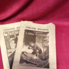 Libros antiguos: DOS NOVEL.LES COMPLETES PUBLICADAS EN 1909 DE LITERATURA SENSACIONAL EN CATALÁN POR SÓLO DIECISEIS. Lote 216675520