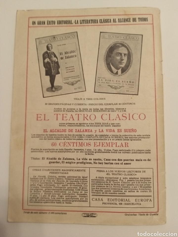 Libros antiguos: Revista El teatro clásico Calderón de la Barca Barcelona 1924 - Foto 2 - 217043113