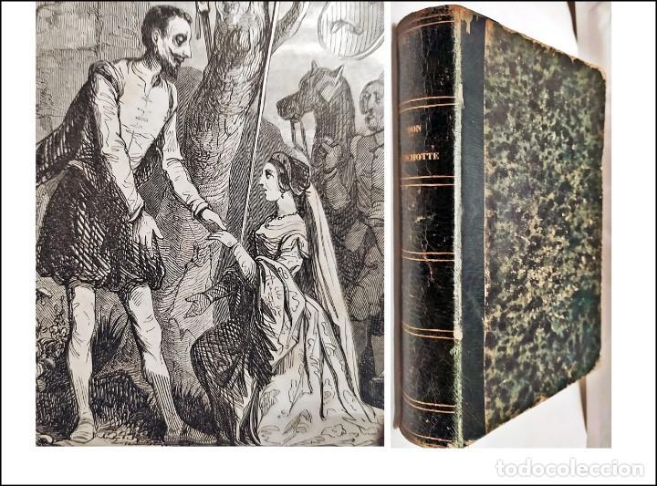 DON QUIJOTE DE LA MANCHA. PRECIOSO LIBRO ILUSTRADO DEL SIGLO XIX. (Libros antiguos (hasta 1936), raros y curiosos - Literatura - Narrativa - Clásicos)