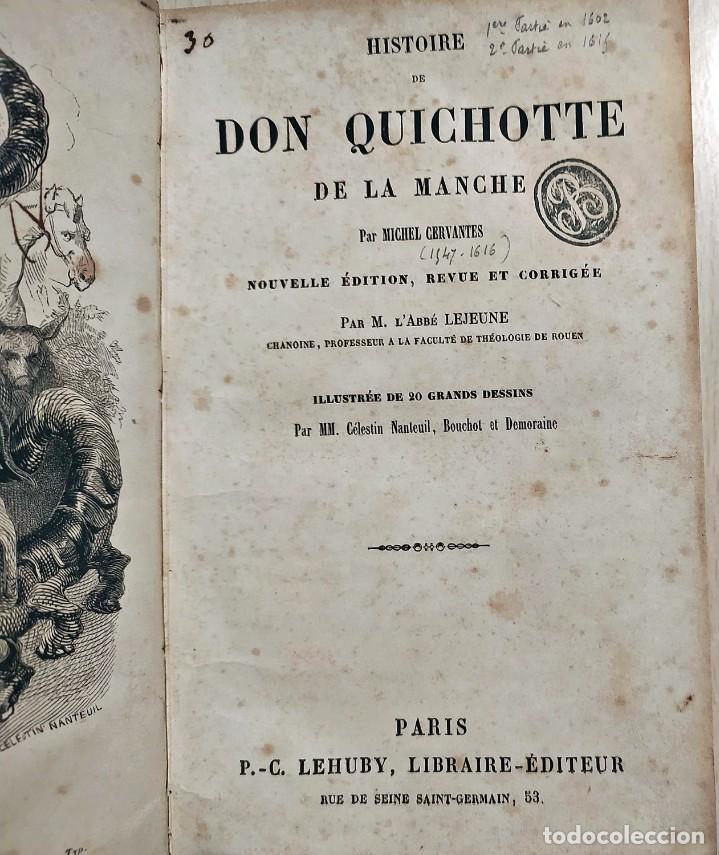 Libros antiguos: DON QUIJOTE DE LA MANCHA. PRECIOSO LIBRO ILUSTRADO DEL SIGLO XIX. - Foto 3 - 217626180