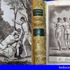 Libros antiguos: AÑO 1818: CARTAS A EMILIO SOBRE MITOLOGÍA. CON PRECIOSAS ILUSTRACIONES ERÓTICAS.. Lote 218381365