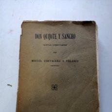 Libros antiguos: DON QUIJOTE Y SANCHO NUEVOS COMENTARIOS 1915. Lote 219007665