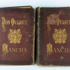 Libros antiguos: DON QUIJOTE DE LA MANCHA, MIGUEL DE CERVANTES, 2 TOMOS, EDICIÓN MONUMENTAL, BIBLIOTECA ESPASA.. Lote 235330500