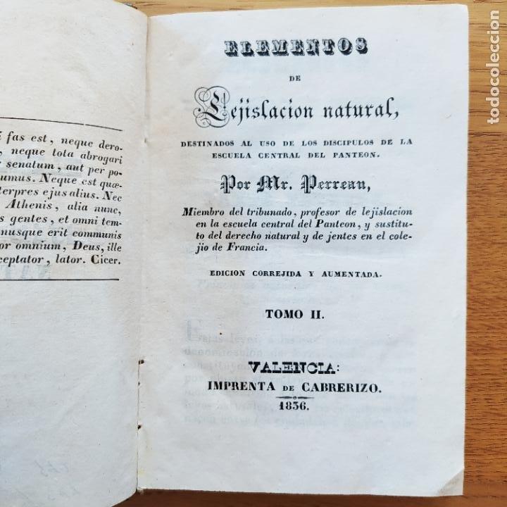 Libros antiguos: Lejislacion natural, Perreau. Ed. Cabrerizo, 1836 - Foto 6 - 219290363