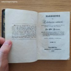 Libros antiguos: LEJISLACION NATURAL, PERREAU. ED. CABRERIZO, 1836. Lote 219290363