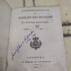 Libros antiguos: 1822. OU HOMEN SINGULAR OU EMILIO NO MUNDO.. Lote 219362263