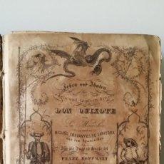 Libros antiguos: CERVANTES, DON QUIJOTE, STTUTGART, 1844, CON NUMEROSOS GRABADOS DE FRANZ HOFFMANN. Lote 219433661