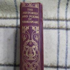 Libros antiguos: 1915. HISTORIAS Y POEMAS DE SHAKESPEARE. CONTIENE VARIAS OBRAS. RICARDO III, ENRIQUE IV, ENRIQUE V... Lote 220607025