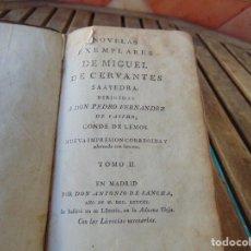 Livros antigos: NOVELAS EJEMPLARES DE MIGUEL DE CERVANTES TOMO II ANTONIO DE SANCHA AÑO 1783 ,GRABADOS. Lote 220848418