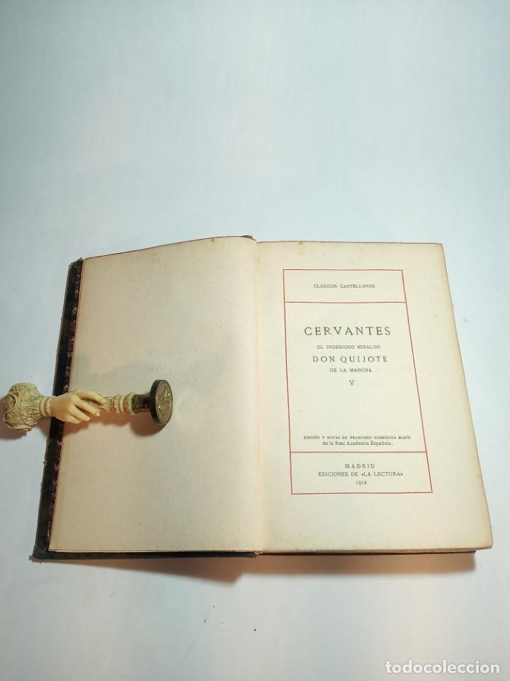 Libros antiguos: El ingenioso hidalgo Don Quijote de la mancha IV. Cervantes.Clásicos Castellanos. Nº 13. 1912.Madrid - Foto 2 - 221099793