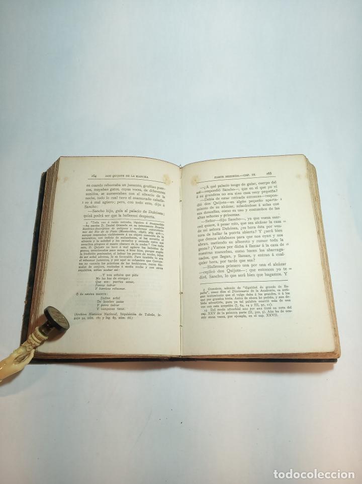 Libros antiguos: El ingenioso hidalgo Don Quijote de la mancha IV. Cervantes.Clásicos Castellanos. Nº 13. 1912.Madrid - Foto 3 - 221099793