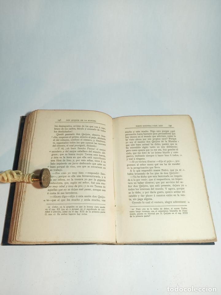 Libros antiguos: El ingenioso hidalgo Don Quijote de la mancha VI. Cervantes.Clásicos Castellanos. Nº 16.1913.Madrid. - Foto 3 - 221100877