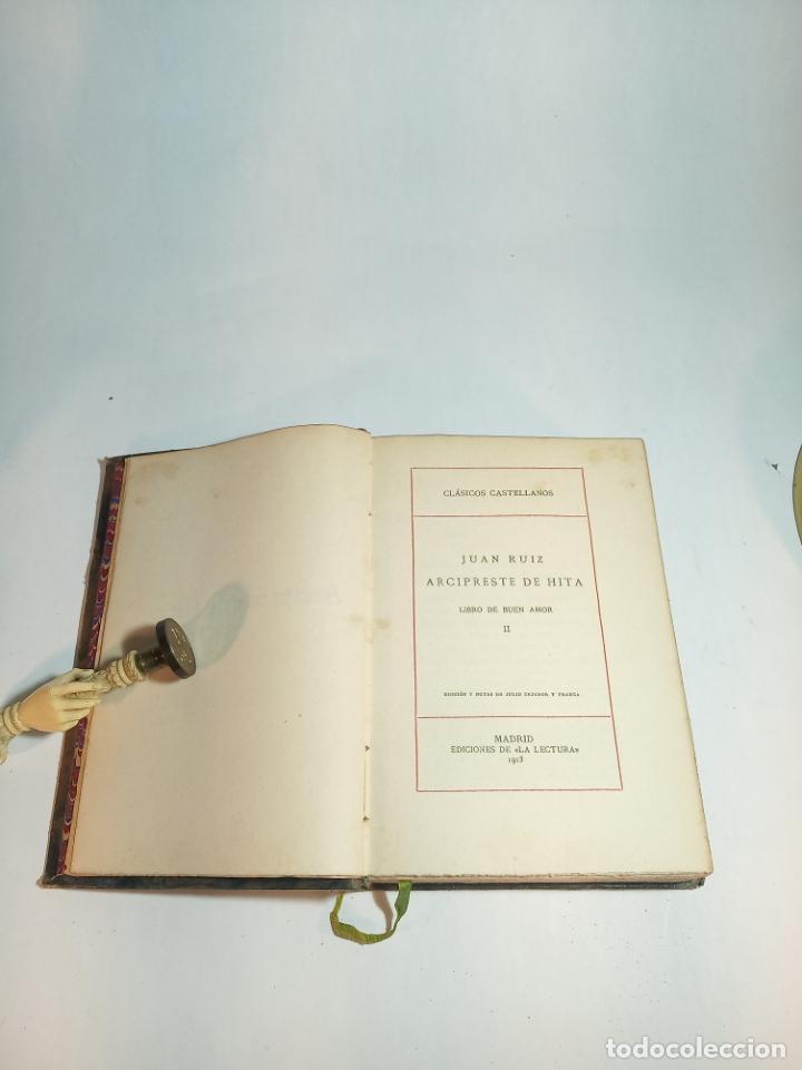 Libros antiguos: Libro del buen amor. Juan Ruiz arcipreste de Hita II. Clásicos Castellanos. Nº 17.1913. Madrid. - Foto 2 - 221101181