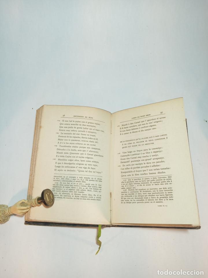 Libros antiguos: Libro del buen amor. Juan Ruiz arcipreste de Hita II. Clásicos Castellanos. Nº 17.1913. Madrid. - Foto 3 - 221101181