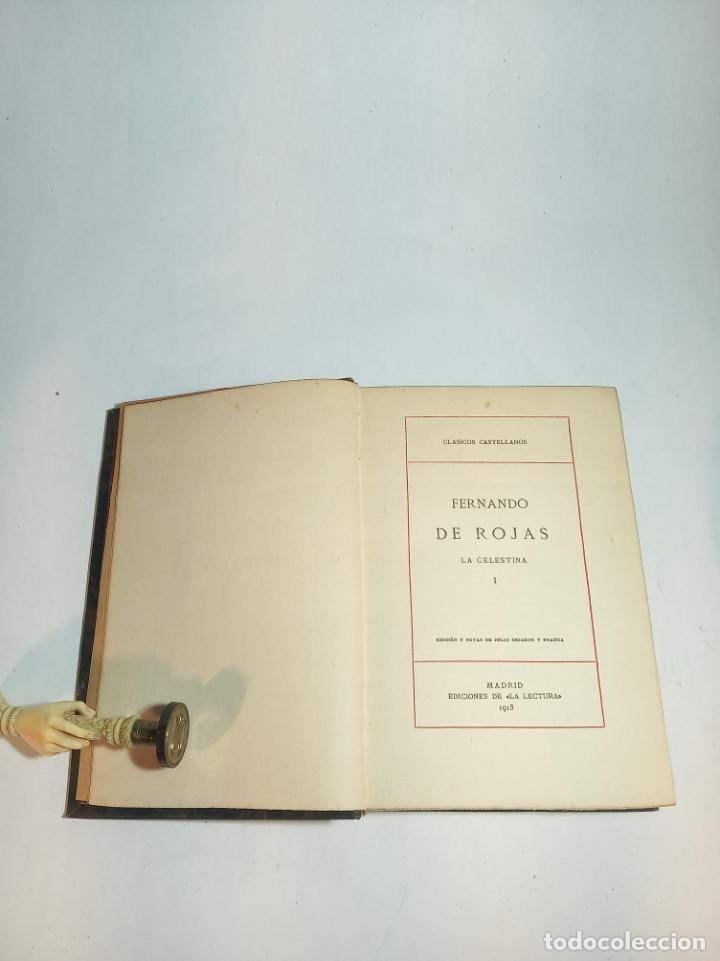 Libros antiguos: La Celestina I. Fernando de Rojas. Clásicos Castellanos. Nº 20.1913. Edic. La lectura. Madrid. - Foto 2 - 221102310