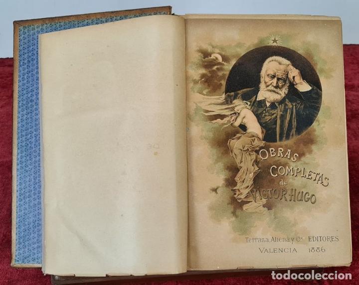 Libros antiguos: OBRAS COMPLETAS DE VICTOR HUGO. 6 TOMOS. EDIT. TERRAZA ALIENA. 1886-1888. - Foto 2 - 221524641