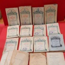 Libros antiguos: COLECCIÓN LOS MEJORES AUTORES DE LA BIBLIOTECA UNIVERSAL. 17 TOMOS. Lote 222023152
