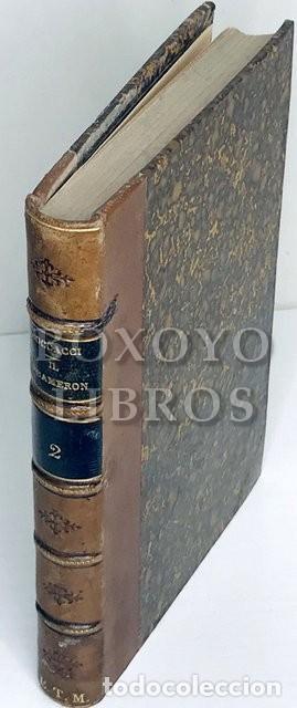 Libros antiguos: Il Decameron, di messer Giovanni Boccacci riscontrato co migliori testi e con note di P. Fanfani... - Foto 2 - 222069950