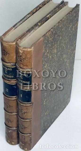 IL DECAMERON, DI MESSER GIOVANNI BOCCACCI RISCONTRATO CO' MIGLIORI TESTI E CON NOTE DI P. FANFANI... (Libros antiguos (hasta 1936), raros y curiosos - Literatura - Narrativa - Clásicos)