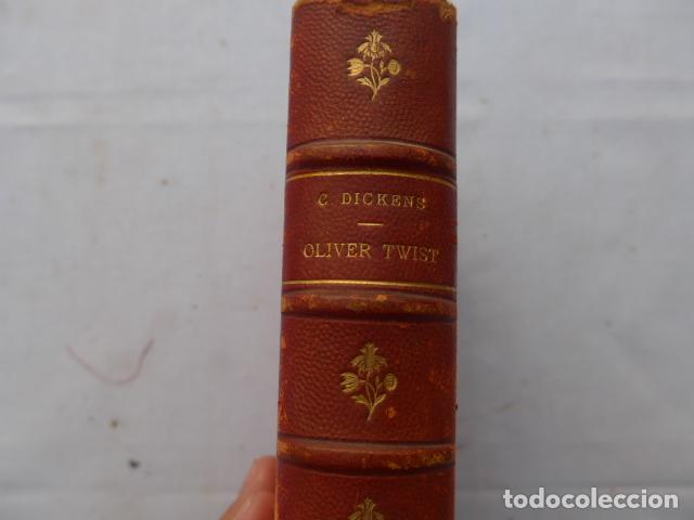 Libros antiguos: * Antiguo libro de charles dickens, oliver twist, original. ZX - Foto 2 - 222285270