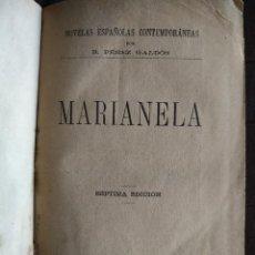 Livros antigos: MARIANELA -BENITO PEREZ GALDOS- 7MA EDICIÓN 1893. Lote 222575062