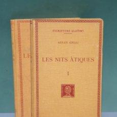 Libri antichi: ESCRIPTORS LLATINS AULUS GELLI LES NITS ÀTIQUES 2 TOMOS 1930-1934 FUNDACIÓ BERNAT METGE CATALÁN. Lote 222874201