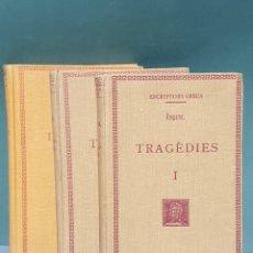 Libros antiguos: ESCRIPTORS GRECS ÈSQUIL TRAGÉDIES 3 TOMOS 1932-1933-1934 FUNDACIÓ BERNAT METGE. Lote 222875101