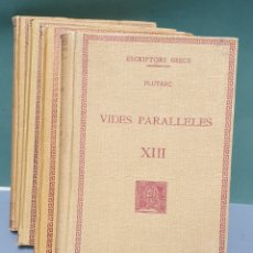 Libros antiguos: ESCRIPTORS GRECS PLUTARC VIDES PARALLELES 4 TOMOS 1929 A 1933 FUNDACIÓ BERNAT METGE. Lote 222878091
