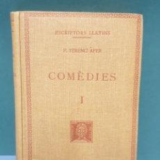 Libros antiguos: ESCRIPTORS LLATINS P.TERENCI ÀFER TOMO 1 1936 FUNDACIÓ BERNAT METGE. Lote 222879662