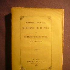 Libros antiguos: FRANCISCO DE QUEVEDO: - POLITICA DE DIOS, GOBIERNO DE CRISTO (PARTE SEGUNDA) - (MADRID, 1868). Lote 223143688