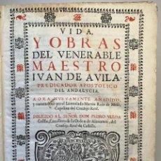Libros antiguos: JUAN DE AVILA, APOSTOL DE ANDALUCIA. VIDA Y OBRAS (1674). EDICIÓN ORIGINAL.. Lote 223192651