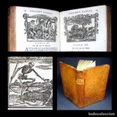 Libros antiguos: AÑO 1793 LAS FÁBULAS DE ESOPO 160 GRABADOS RARA EDICIÓN LONDINENSE 18 EJEMPLARES EN TODO EL MUNDO. Lote 223981806
