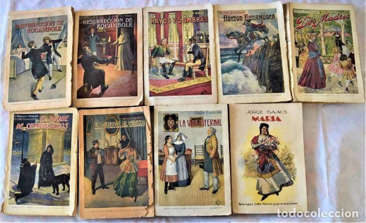 LOTE 9 PUBLICACIONES EDITORIAL SOPENA BIBLIOTECA GRANDES NOVELAS - ROCAMBOLE, MARÍA, FIERAMOSCA (Libros antiguos (hasta 1936), raros y curiosos - Literatura - Narrativa - Clásicos)