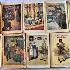 Libros antiguos: LOTE 9 PUBLICACIONES EDITORIAL SOPENA BIBLIOTECA GRANDES NOVELAS - ROCAMBOLE, MARÍA, FIERAMOSCA. Lote 224068336