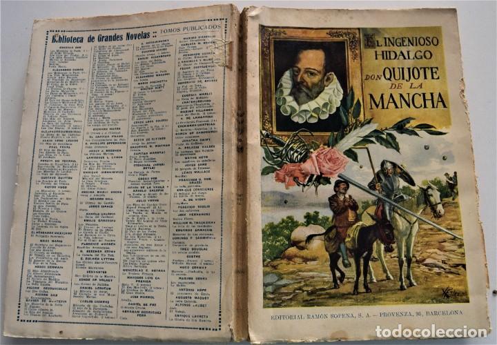 Libros antiguos: EL INGENIOSO HIDALGO DON QUIJOTE DE LA MANCHA - CERVANTES - EDITORIAL RAMÓN SOPENA AÑO 1936 - Foto 2 - 224114341