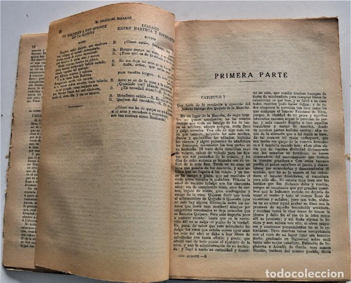 Libros antiguos: EL INGENIOSO HIDALGO DON QUIJOTE DE LA MANCHA - CERVANTES - EDITORIAL RAMÓN SOPENA AÑO 1936 - Foto 5 - 224114341