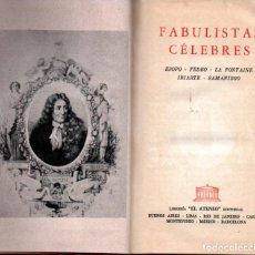 Libros antiguos: FABULISTAS CÉLEBRES (ATENEO, 1966). Lote 224216018