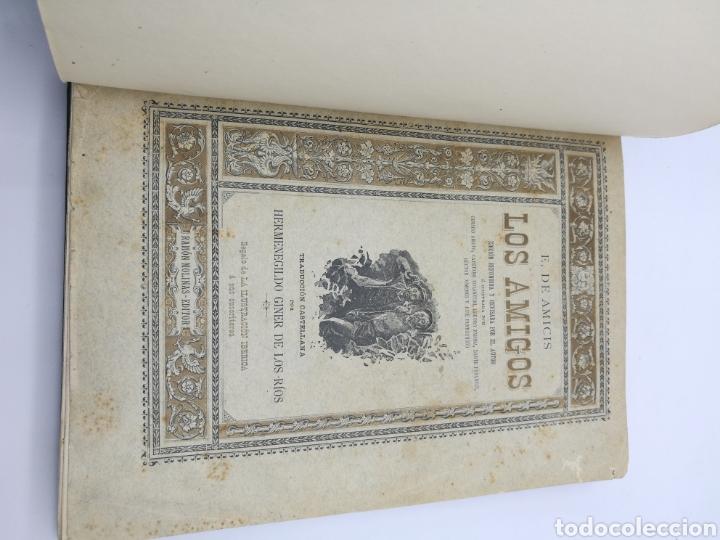 Libros antiguos: Los amigos por E Amicis bonita encuadernación - Foto 2 - 224335690
